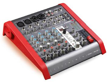 Uitlopend - Proel Mixer 2mic/Line.2st.Line inp.1Aux.2trackOut.24bit effect Bal.Main mix out.