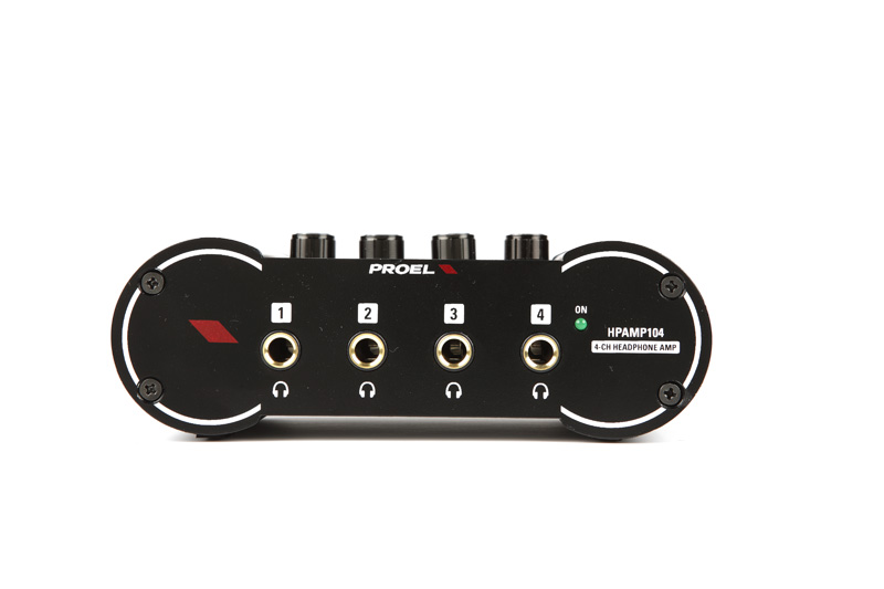 Proel 4channel Headphone Amplifier 1/4 Jack+RCA  stereo inp / 4x 1/4 Jack st. out.