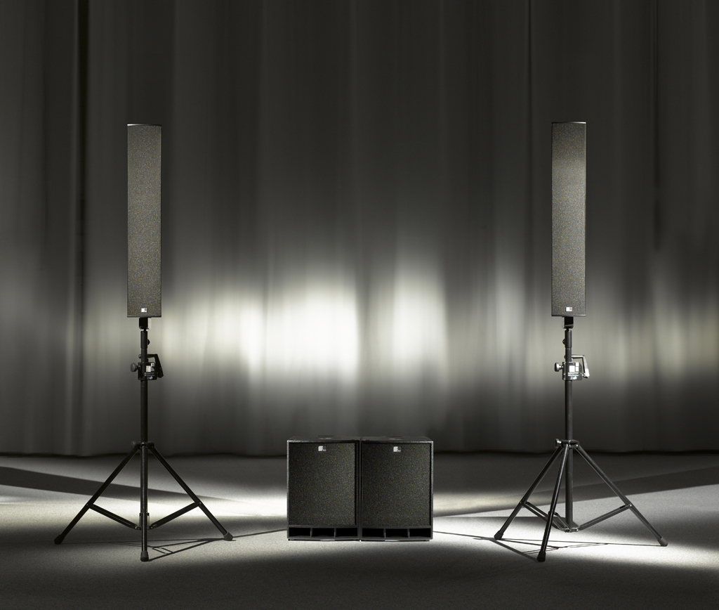 Fohhn, LX-501 Linea mobil, High power line source speaker system, 700 W, 4x 6.5 / 4x 1 with waveguide, 8 O, plywood birch, scratch-resistant plastic coating, 2 handles, 2x speakon, polyurethane-coating black