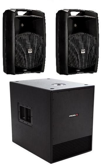 Mobile Pack. 2 x V12a, 1 x SW115av2. System Power 1900W