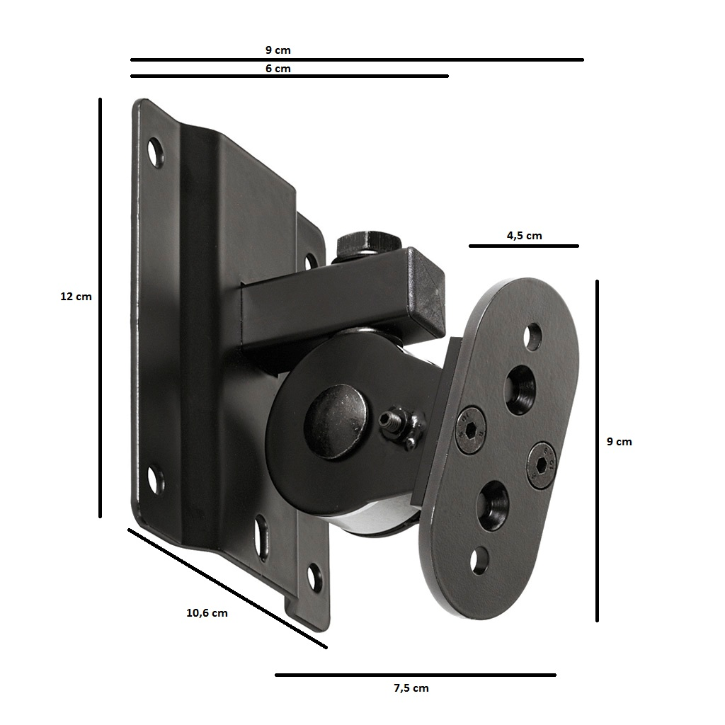 Fohhn, WAT-08k, Wall bracket short Scale-1/2, LX-60/100/150, AT-05/061/07/08/09/10/201 black