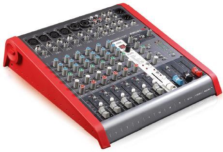 Proel Mixer 4mic/Line. 2st. Line inputs. 2Aux send 2track out. 24bit effect Bal.Main Out. USB