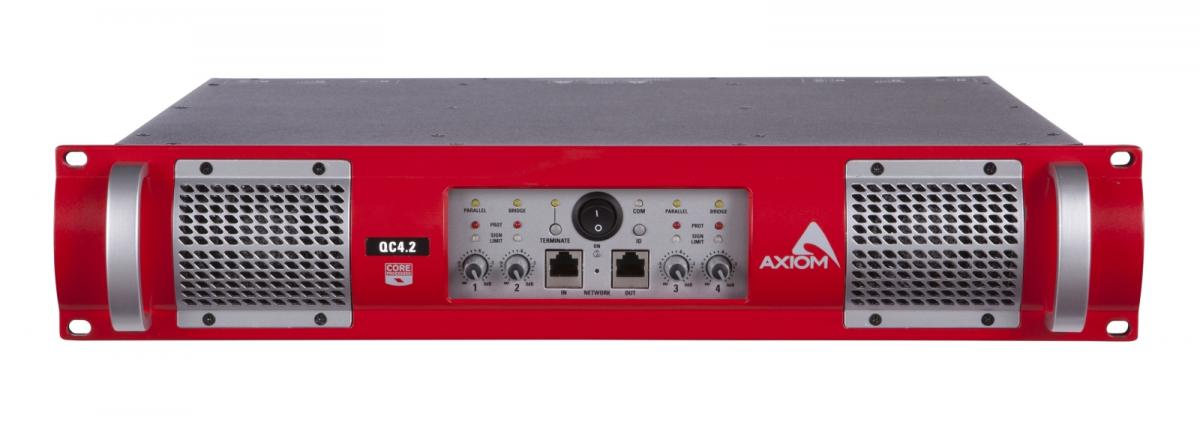 Niet Meer Leverbaar - AXIOM 4 Ch. Digitally controlled Class D power amplifiers with SMPS and CORE DSP, 4 x 500W